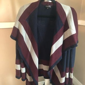 The Limited striped sweater jacket